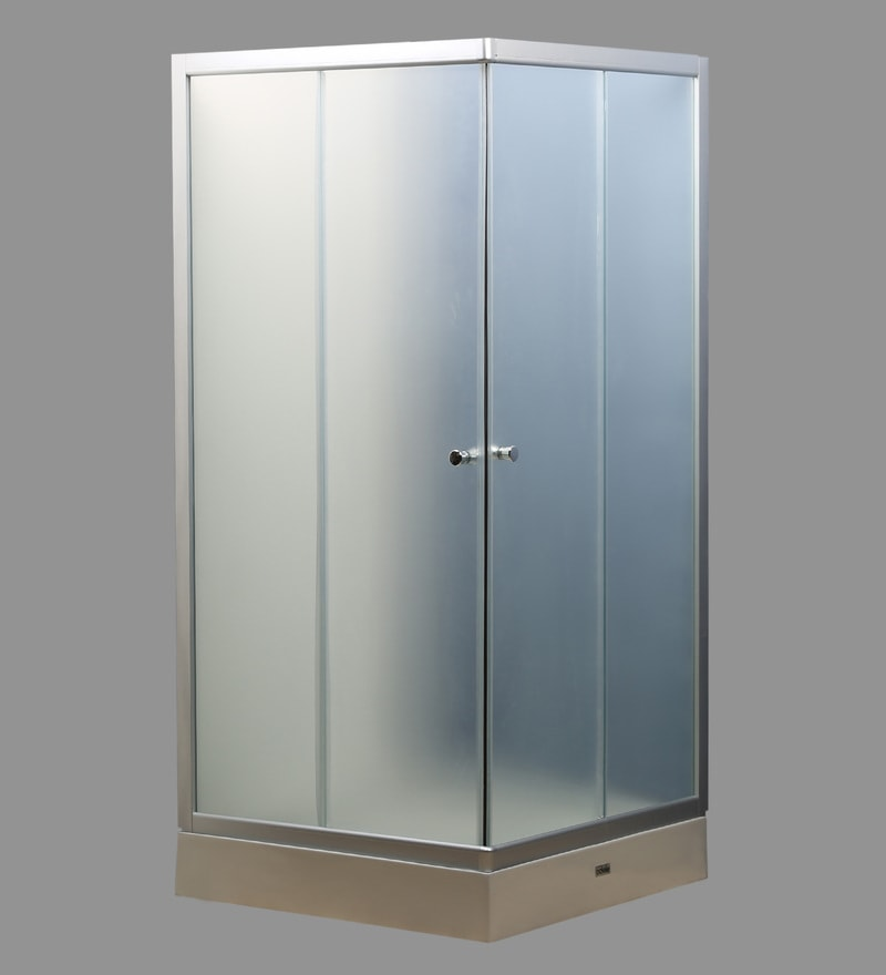 HomeTown Valentino Shower Enclosure White Acrylic & Toughned Glass 35.4 x 35.4 x 76.8 Inch Shower Enclosure