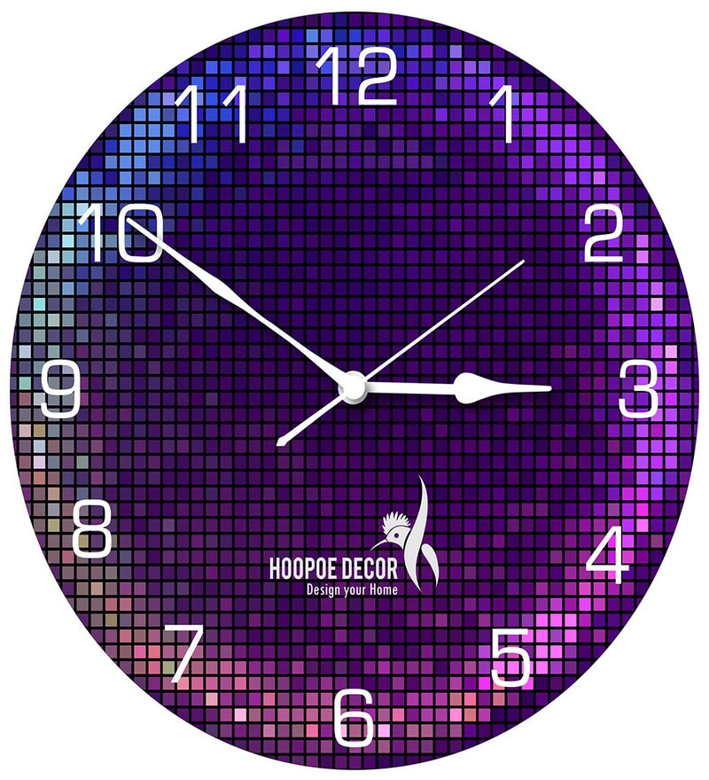 Lighting Theme Trendy Designer Wall Clock by Hoopoe Decor