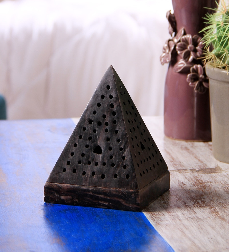 Brown Stone Cone Incense Burner by Hosley