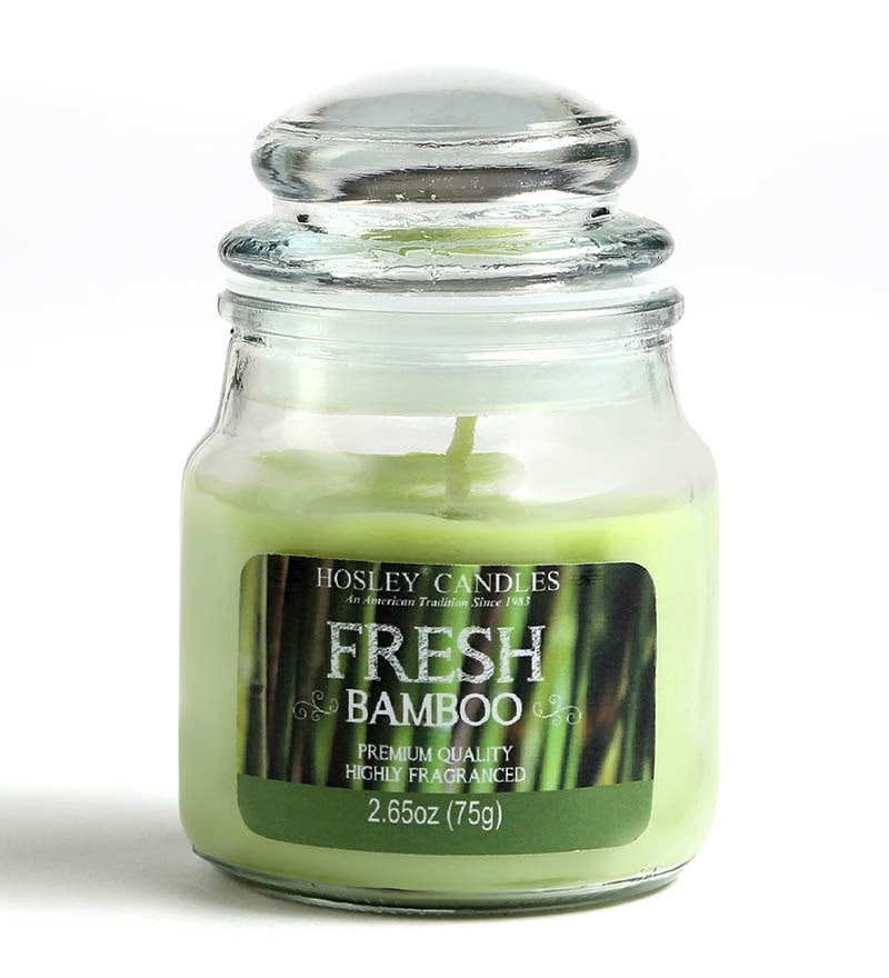 Fresh Bamboo Aroma Green Jar Candle by Hosley