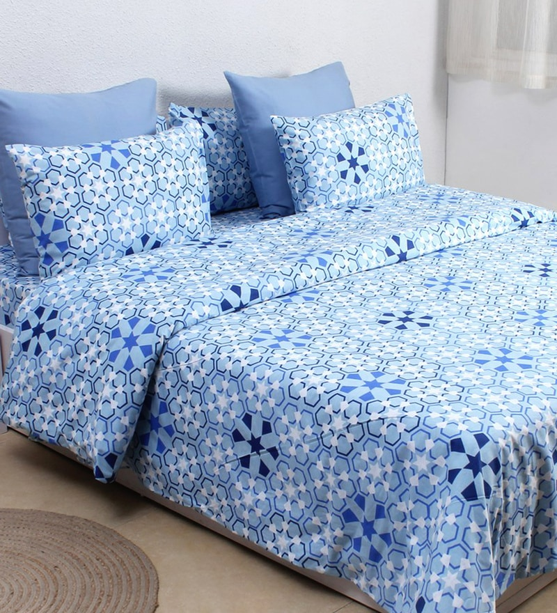 Blue 100% Cotton Single Size Dohar by House This