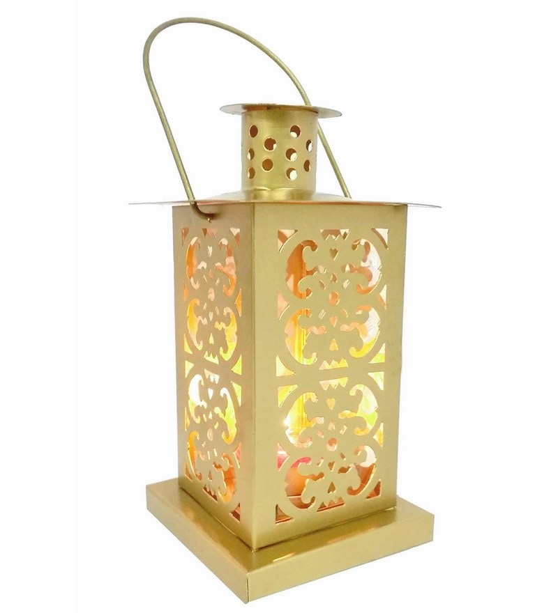 Gold Iron Lantern - Set Of 2 by House2home
