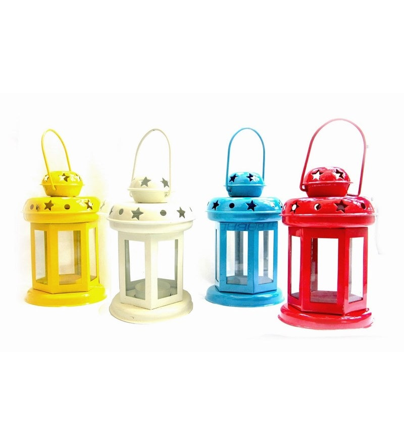 Multicolour Iron Lantern - Set Of 4 by House2home