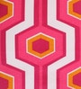 Pink Abstract Patterns Cotton Queen Size Bed Sheets - Set of 3 by Home Ecstasy