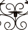 Home Sparkle Antique Brown Iron Brocade Candle Wall Sconces