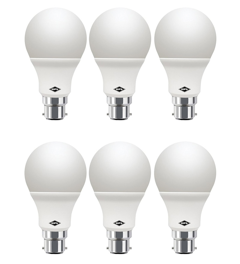 HPL White 3-Watt LED Bulbs - Set of 6