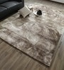 Caramel & Chocolate Bamboo Silk & Cotton 118 x 78 Inch Hand Knotted Carpet by Hyde Park