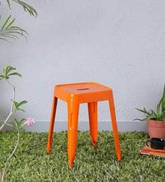Iero Metal Stool In Orange Colour