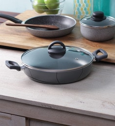 Illa Teflon Coated Non Stick Induction Friendly Deep Frying Pan With Lid - 28 CM