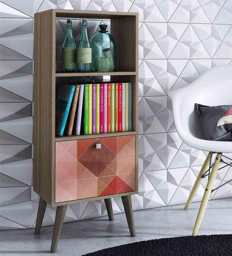 Imako Display Unit cum Book Shelf in Multi Finish by Mintwud