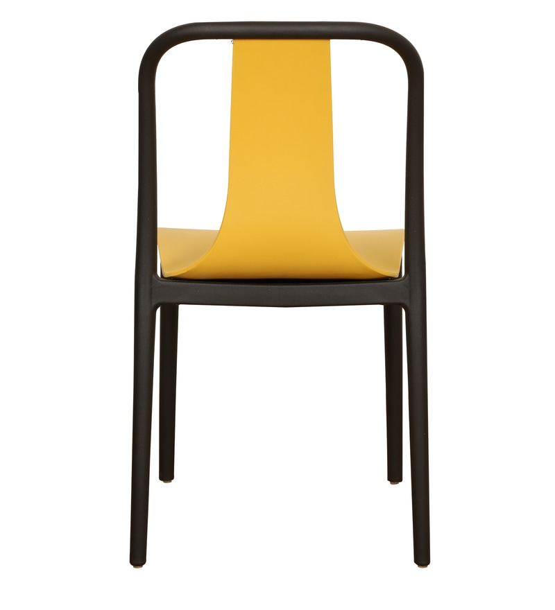 Imported Furniture Online: Buy Imported Cafe Chair Cheer In Black & Yellow By Misuraa