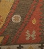 Multicolour Wool 72 x 48 Inch Handwoven Vintage Dhurrie by Imperial Knots