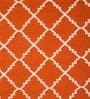 Imperial Knots Orange & Ivory Wool 72 x 48 Inch Rug