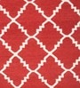 Imperial Knots Red & Ivory Wool 72 x 48 Inch Rug