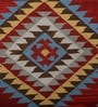 Red Wool 96 x 60 Inch Dhurrie by Imperial Knots