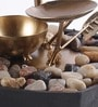 Brown & Gold Metal 3 Leaf Durable & Sturdy Fountain by Importwala