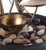 Brown & Gold Metal 3 Leaf Without Led Fountain by Importwala