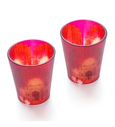 India Circus Crown Of Palaces Frosted Glass 30 ML Shot Glasses - Set Of 2