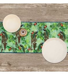 India Circus Looking For Raindrops Multicolour Cotton Table Runner