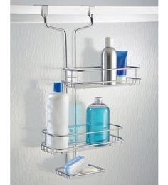 Interdesign Linea Silver Steel 6 X 1.5 X 21.1 Inch Over The Door Shower Caddy