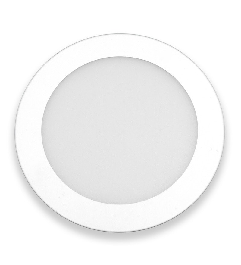 Round White 18W LED Flat Panel Light by Inddus