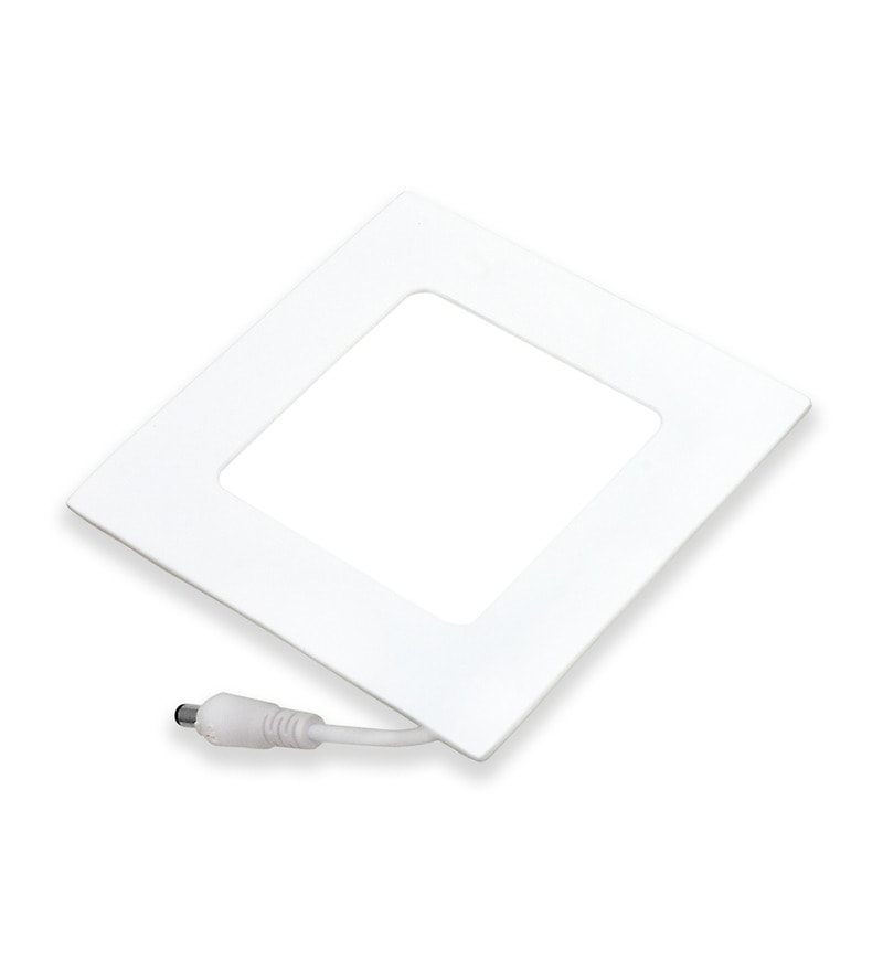 Square Neutral White 18W LED Flat Panel Light by Inddus