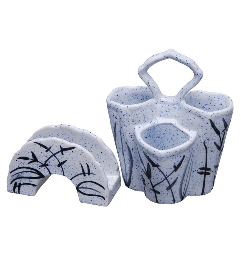 Indeasia Srijan Cutlery Holder & Napkin Holder