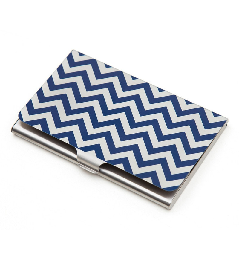 India Circus Chevron Melavo Steel Multicolour Visiting Card Holder