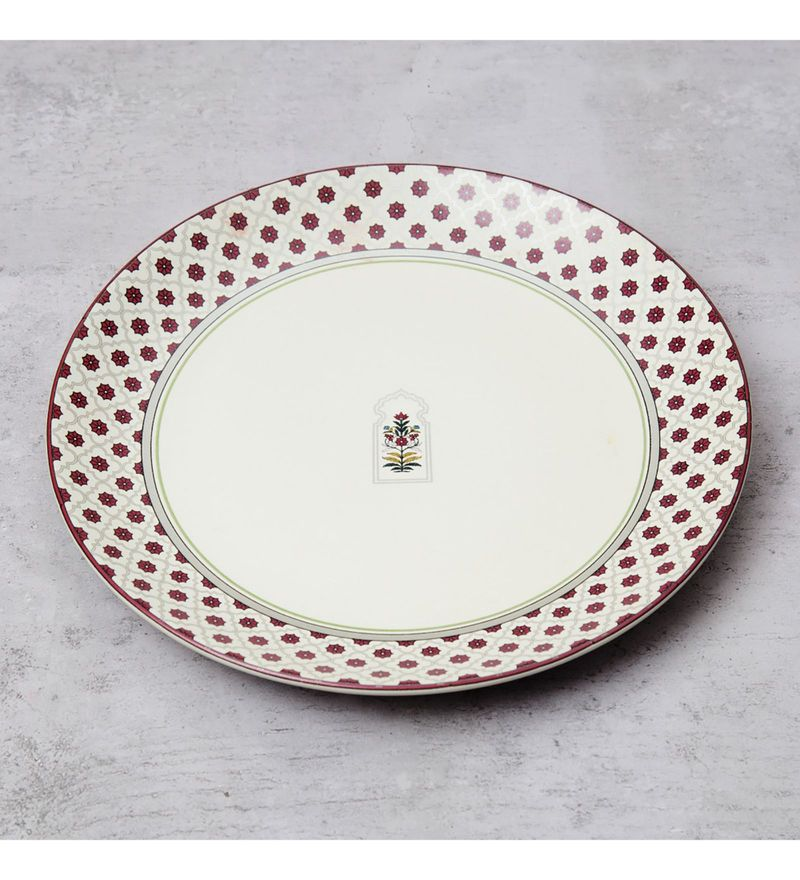 India Circus Floral Lattice Stoneware Dinner Plate