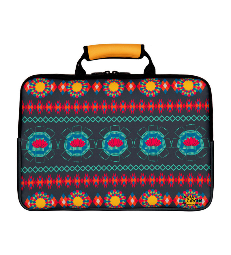 India Circus Hues of Mystery Neoprene Multicolour Laptop Bag