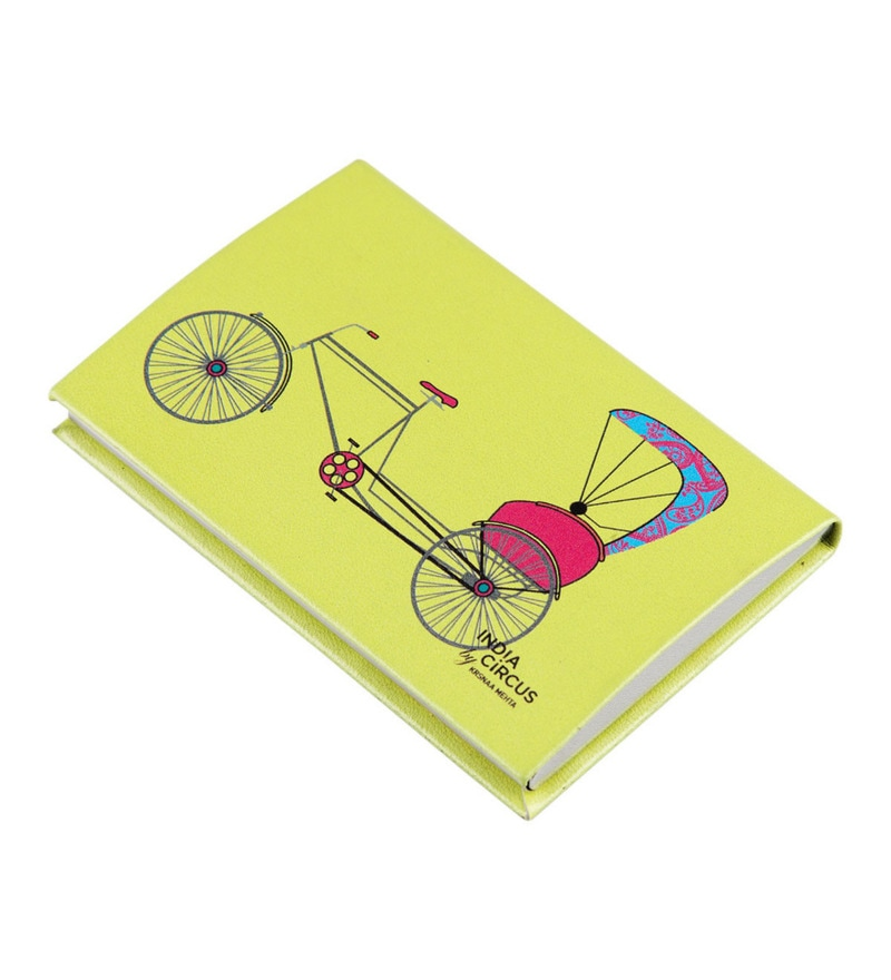 India Circus Pop Jinricksha Faux Leather Multicolour Visiting Card Holder