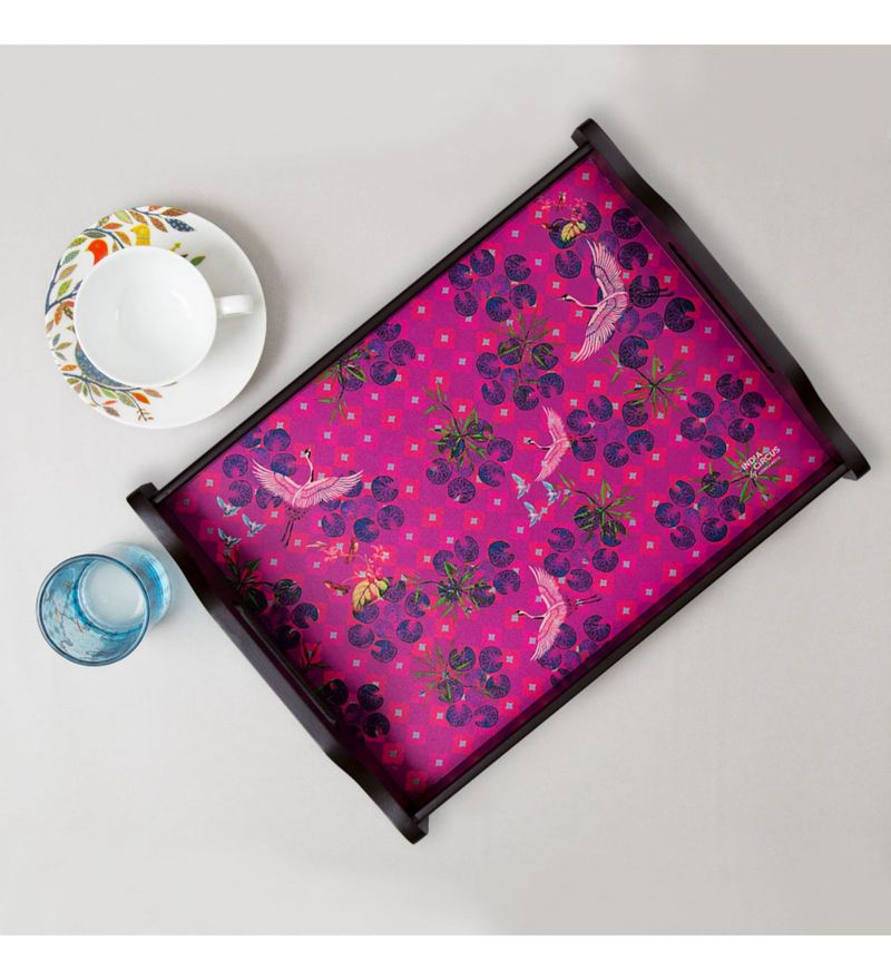 India Circus Red Paradise MDF Rectangle Tray