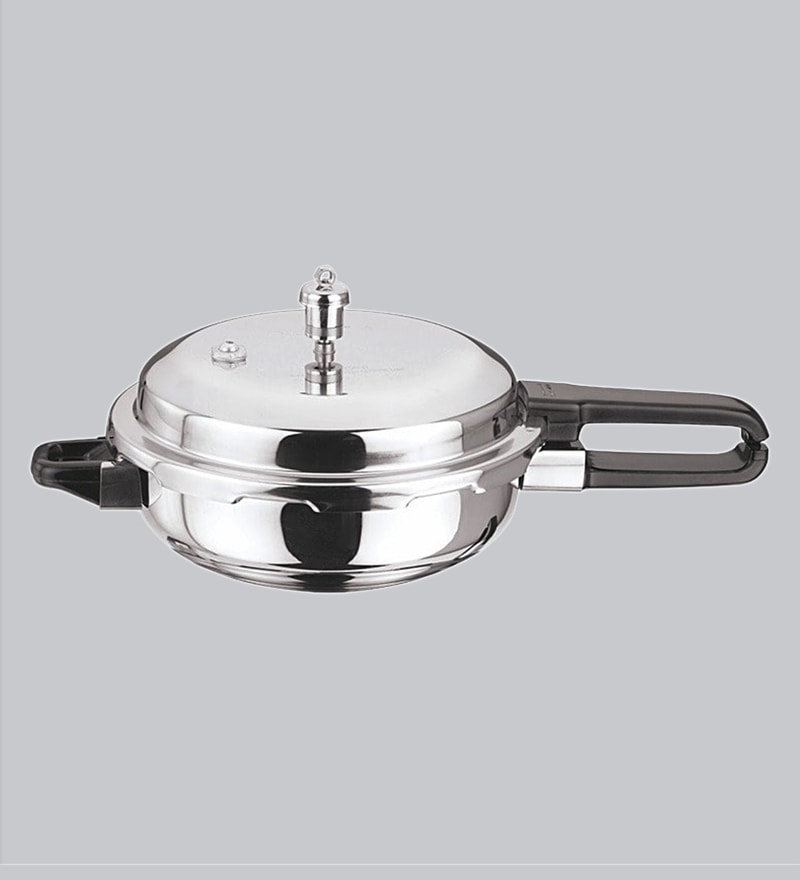 1bad5c849 Induction Base Sandwich Bottom Stainless Steel Pressure Pan with Lid- 4 Ltr