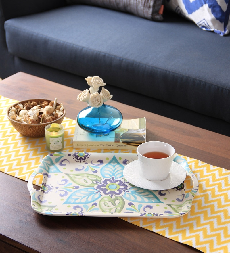 Intrendz Fulpatti Bamboo & Fibre Rectangle Tray