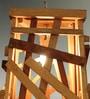 Inliving Brown Wood Kochi Pendant