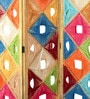 Inliving Multicolour Mango Wood & Sheesham Beautiful Room Divider