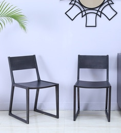 Iskra Dining Chair ( Set Of 2 ) In Brass Inlay