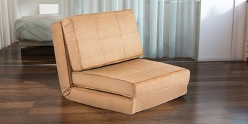 Isten Single Seater Sofa Cum Bed In Brown Colour