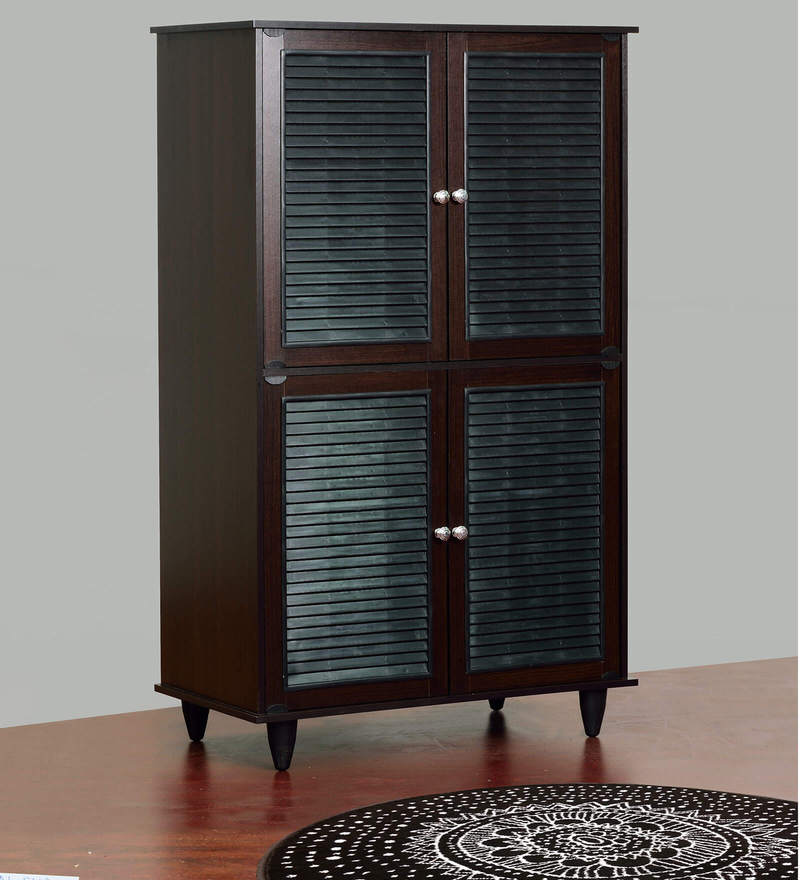 Isao Four Door Shoe Cabinet in Wenge Finish by Mintwud