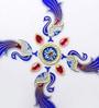 Itiha Multicolor Acrylic 9-piece Peacock Rangoli