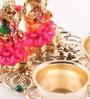 Multicolour Metal Lakshmi Ganesh Haldi Kumkum Holder by Itiha