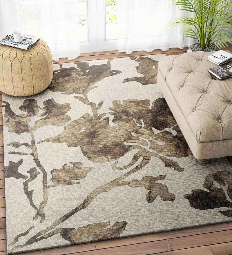 Ivory Wool 72 x 48 Inch Carpet by Imperial Knots