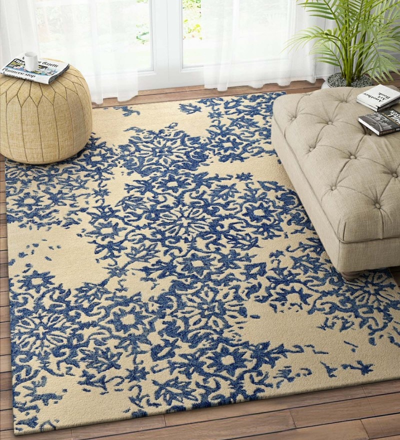 Ivory Wool 90 x 60 Inch Carpet by Imperial Knots