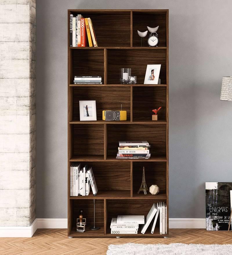 Iwasaki Bookshelf in Walnut Brown Finish by Mintwud