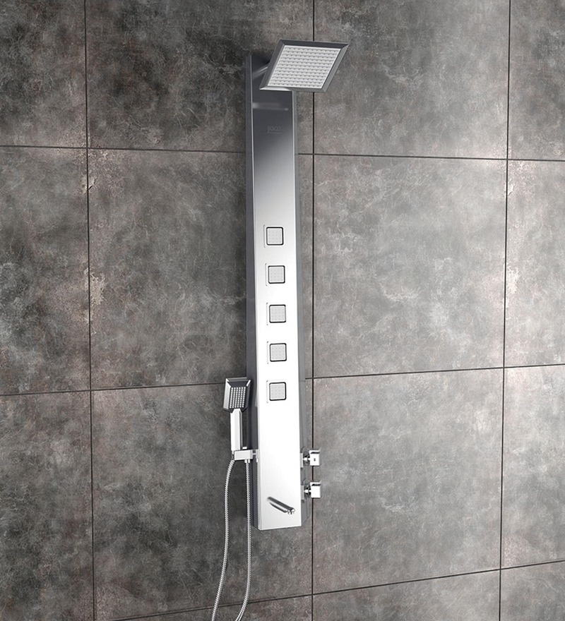 JAAZ Angle Steel Matte Stainless SteeL Shower Panel (Model no: ANG1)