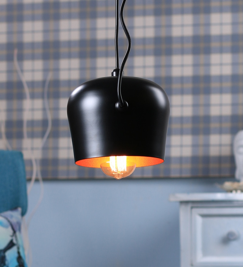 Black and Gold Aluminium Pendant by Jainsons Emporio