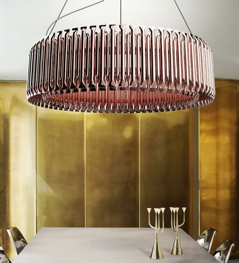 Copper Aluminium Chandelier by Jainsons Emporio