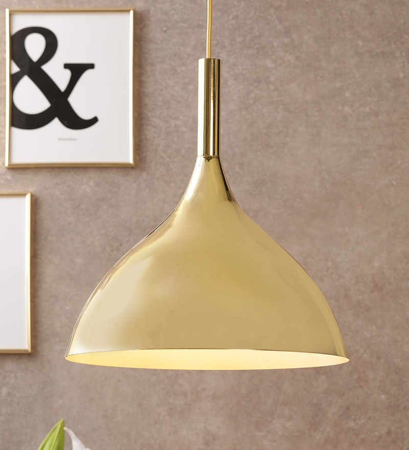 6fd9180b21ef Buy Gold Metal Hanging Light by Astral Online - Contemporary Hanging ...