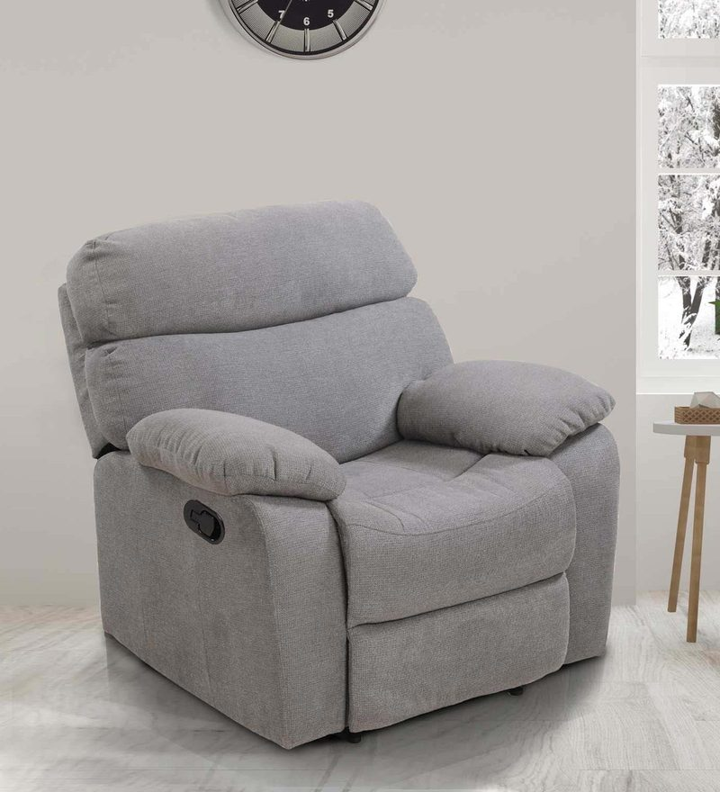 Jasmine One Seater Recliner in Grey Colour by Royal Oak