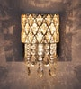 Silver Crystals Medley Wall Mounted Light by Jainsons Emporio